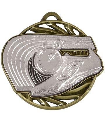 """Silver Vortex Athletics Medal 50mm (2"""")"""