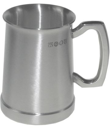 "Extra Heavy Satin Finish Hereford 1/2pt Sheffield Pewter Tankard 10cm (4"")"