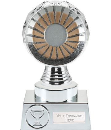 "25mm Centre Trophy Silver Hemisphere 15cm (6"")"