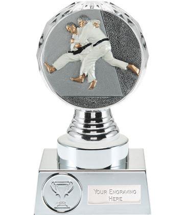 "Judo Trophy Silver Hemisphere 15cm (6"")"