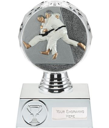 "Judo Trophy Silver Hemisphere 13.5cm (5.25"")"