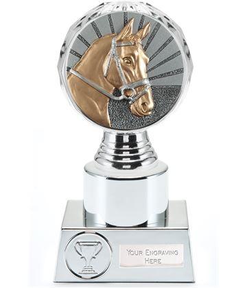 "Horse Trophy Silver Hemisphere 16.5cm (6.5"")"