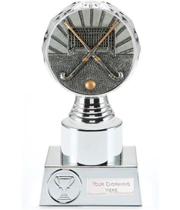 "Hockey Trophy Silver Hemisphere 16.5cm (6.5"")"
