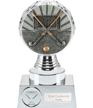 "Hockey Trophy Silver Hemisphere 15cm (6"")"