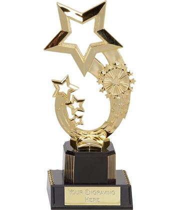 "Gold Rising Star Trophy 19.5cm (7.75"")"