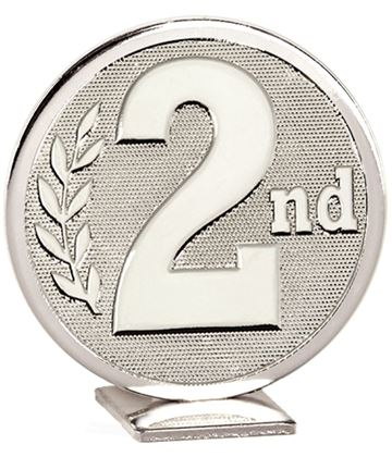 "Silver Global 2nd Place Self Standing Award 60mm (2.25"")"