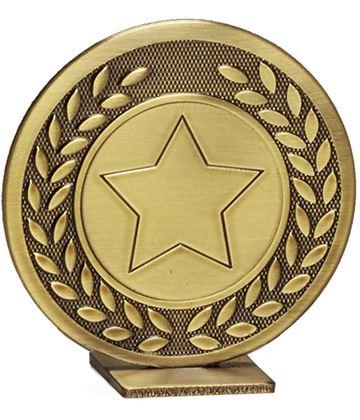 "Bronze Global Star & Laurel Leaf Self Standing Award 60mm (2.25"")"