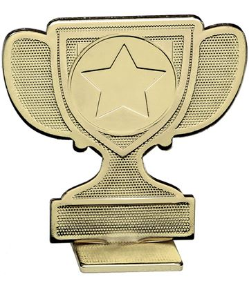 """Achievement Cup Self Standing Medal Gold 60mm (2.25"""")"""