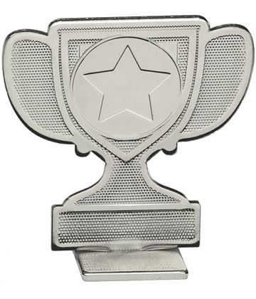 """Achievement Cup Self Standing Medal Silver 60mm (2.25"""")"""