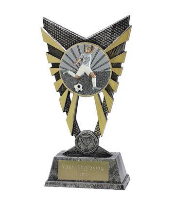 "Valiant Footballer Silver Trophy 23cm (9"")"