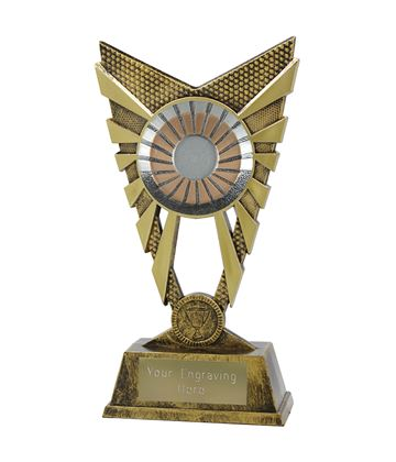 """Valiant 25mm Centre Gold Trophy 23cm (9"""")"""