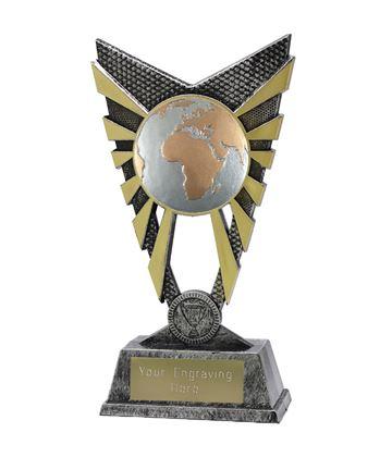 "Valiant Globe Trophy Silver 23cm (9"")"