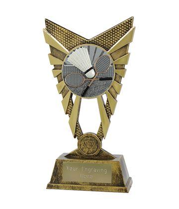 "Valiant Badminton Trophy Gold 23cm (9"")"