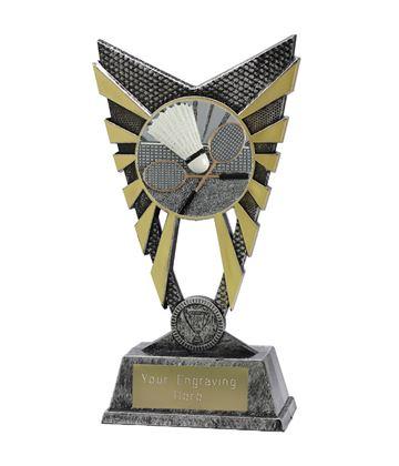 """Valiant Badminton Trophy Silver 23cm (9"""")"""
