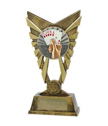 "Valiant Cards Trophy Gold 23cm (9"")"