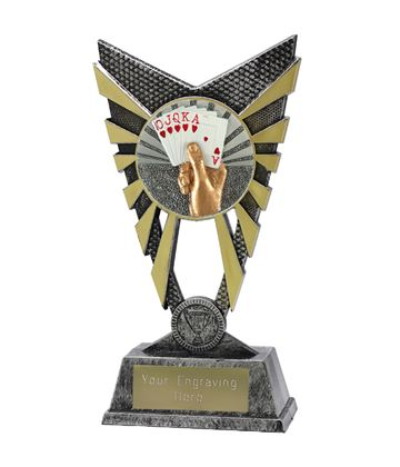 "Valiant Cards Trophy Silver 23cm (9"")"