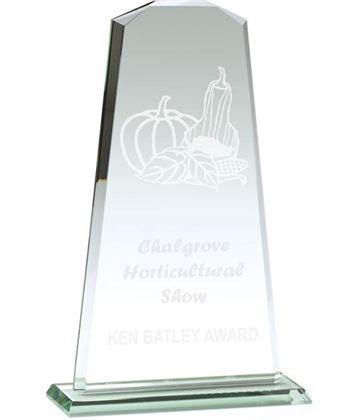 "Towering Flair Jade Glass Award 23cm (9"")"