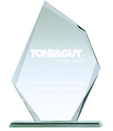 """Thick Paragon Jade Glass Plaque Award 24cm (9.5"""")"""