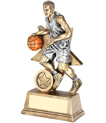 """Male Action Basketball Figure Trophy 15cm (6"""")"""