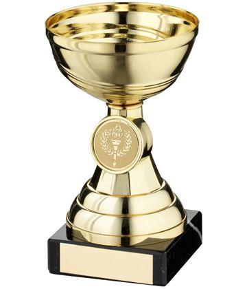 """Gold Bowl Stem Trophy Cup 12.5cm (5"""")"""