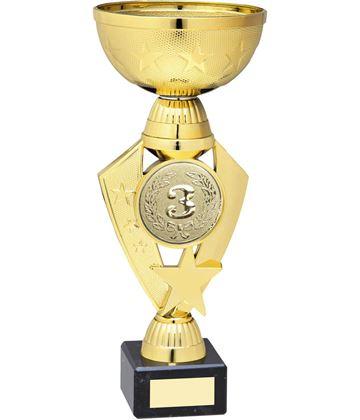 """Star & Centre Trophy Cup Gold Plastic 23cm (9"""")"""