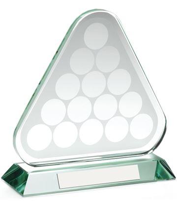 "Snooker/Pool Balls Triangle Glass Award 17cm (6.75"")"