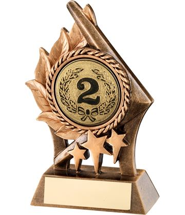 "Gold Resin Leaf & Stars Multi Award Trophy 15cm (6"")"