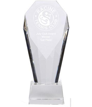 "Achievement Diamond Optical Crystal Award 23.5cm (9.25"")"