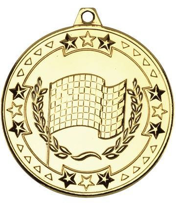 "Gold Tri Star Motor Sport Medal 50mm (2"")"