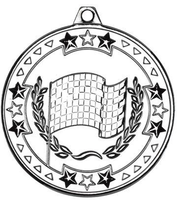 "Silver Tri Star Motor Sport Medal 50mm (2"")"