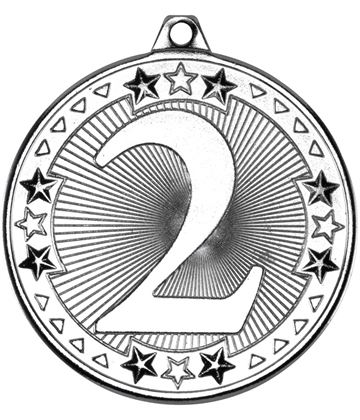 "Silver Tri Star 2nd Medal 50mm (2"")"
