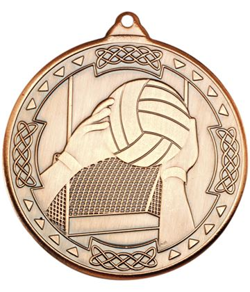 """Bronze Gaelic Football Celtic Medal 50mm (2"""")"""