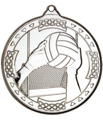 "Silver Gaelic Football Celtic Medal 50mm (2"")"
