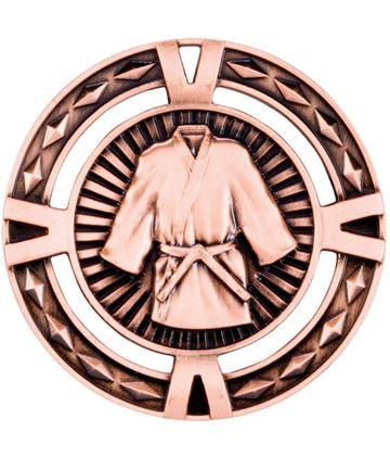 "Bronze Diamond Pattern Martial Arts Medal 60mm (2.25"")"