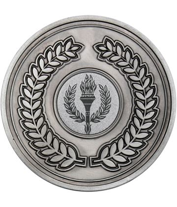 "Laurel Wreath Presentation Medal Antique Silver 70mm (2.75"")"