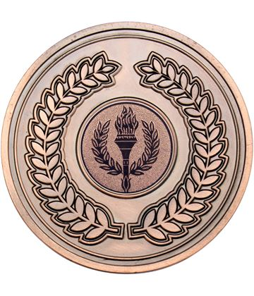"Laurel Wreath Presentation Medal Antique Bronze 70mm (2.75"")"