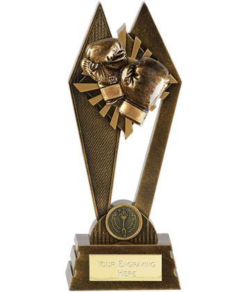 """Boxing Peak Trophy Antique Gold 17.5cm (7"""")"""