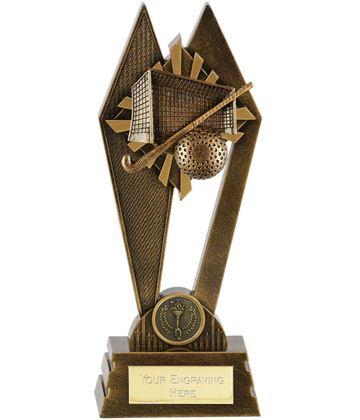 "Hockey Peak Trophy Antique Gold 20cm (8"")"