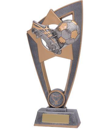 "Football Boot & Ball Star Blast Trophy 18cm (7"")"