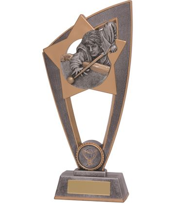 "Pool Snooker Star Blast Trophy 18cm (7"")"