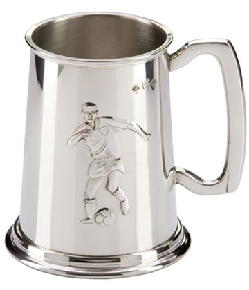 "Sheffield Pewter Football Player Tankard 12.5cm (5"")"