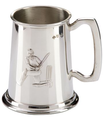 "Sheffield Pewter Cricket Batsman Tankard 12.5cm (5"")"