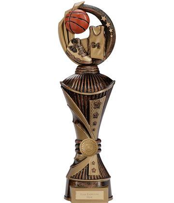 """Renegade Basketball Heavyweight Trophy Antique Bronze & Gold 35cm (13.75"""")"""