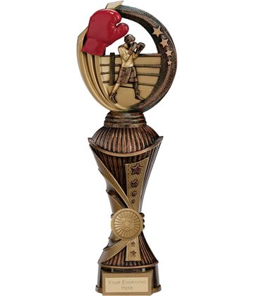 "Renegade Boxing Heavyweight Trophy Antique Bronze & Gold 30cm (11.75"")"