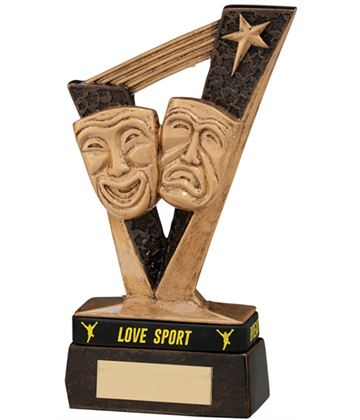 "Victory Drama Award with Sports Band 15.5cm (6"")"