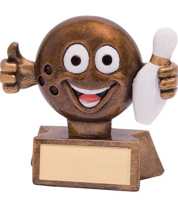 "Smiler Novelty Ten Pin Bowling Trophy 7.5cm (3"")"