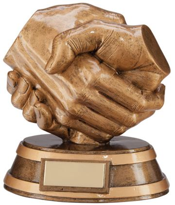 "Fairplay Handshake Trophy 13cm (5"")"