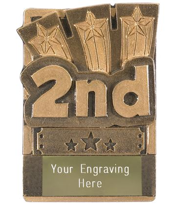 "2nd Place Fridge Magnet Award 8cm (3.25"")"