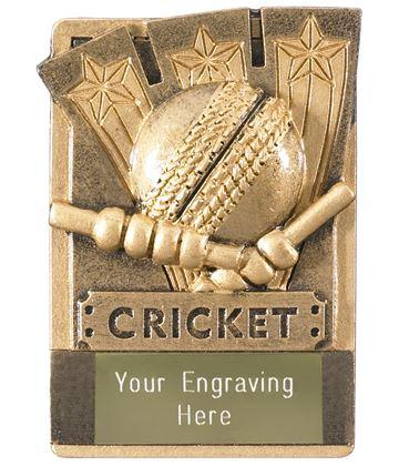 "Cricket Fridge Magnet Award 8cm (3.25"")"