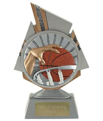 "Shard Basketball Trophy 15cm (6"")"